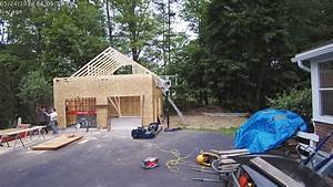 24x24x12 garage attic truss installation time lapse youtube With 24x24x12 garage
