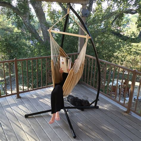 Hammock Cframe Steel Stand Cotton Rope Chair Cradle Air