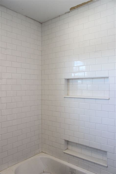 white subway tile shower grout by mapei like the