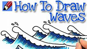 How to draw Waves Real Easy - YouTube