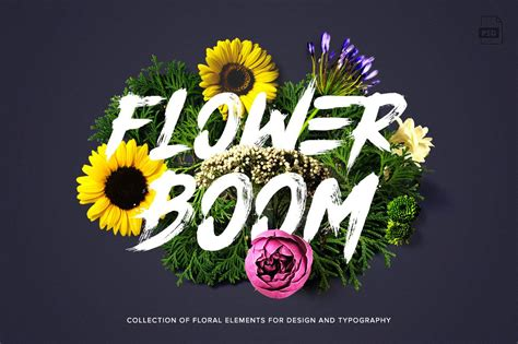 flower boom graphic pack photoshop add ons creative market
