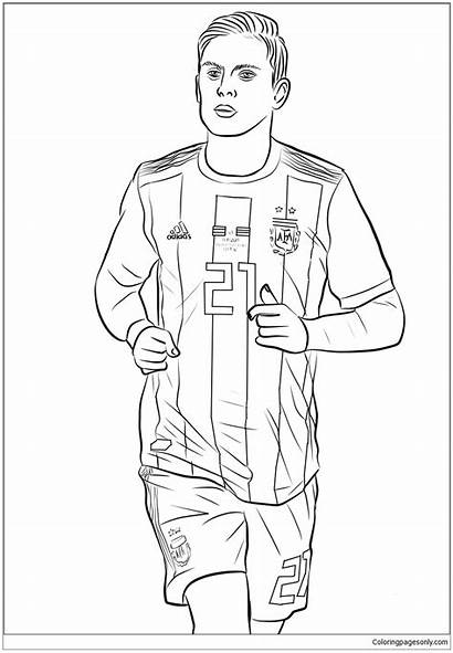 Dybala Paulo Coloring Pages Coloringpagesonly