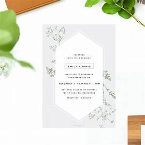 pale grey modern botanical wedding invites contemporary With modern wedding invitations melbourne