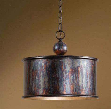 French Country Distressed Copper Kitchen Chandelier Metal