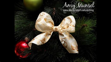 how to make bow for christmas tree how to make a bow for a tree