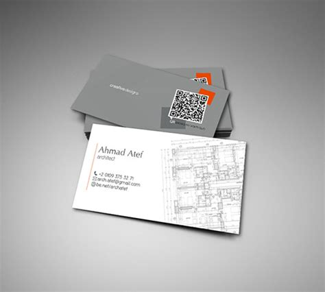 33 Slick Business Card Designs For Architects  Naldz Graphics