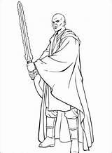 Wars Star Mace Windu Coloring Template Peliculas Imagen sketch template