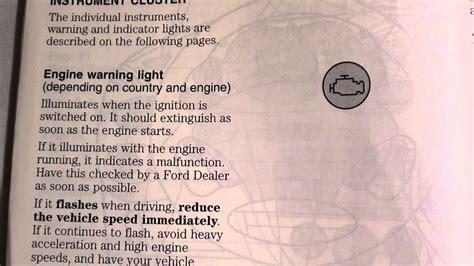 ford focus engine warningmanagement light   deal