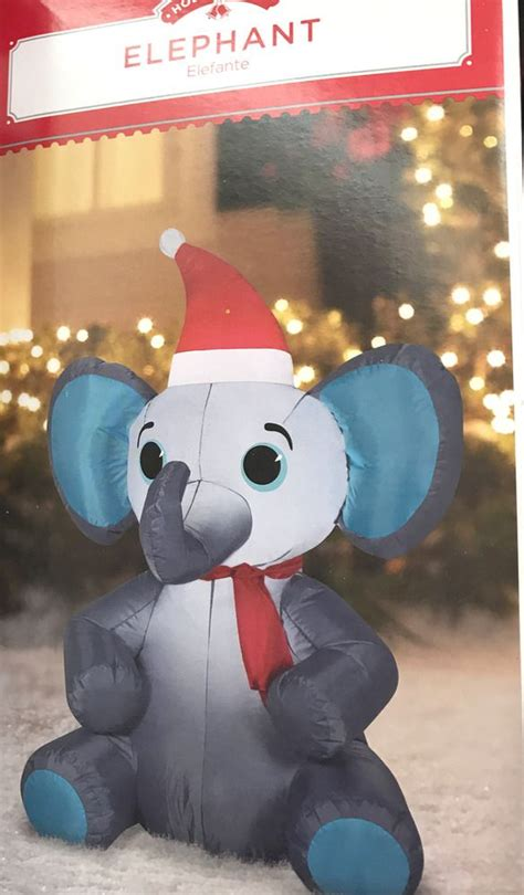 airblown christmas inflatable elephant  tall holiday
