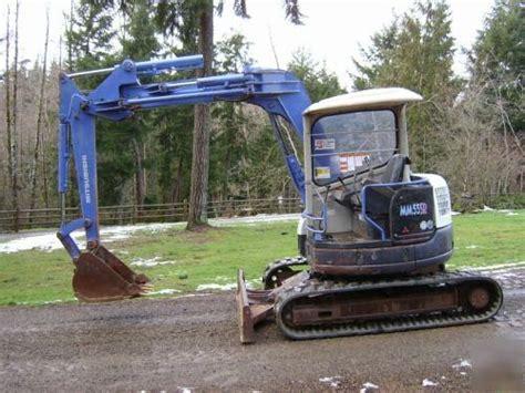 Mitsubishi Excavator by Mitsubishi Mm55sr Excavator Manufacture Of Cat