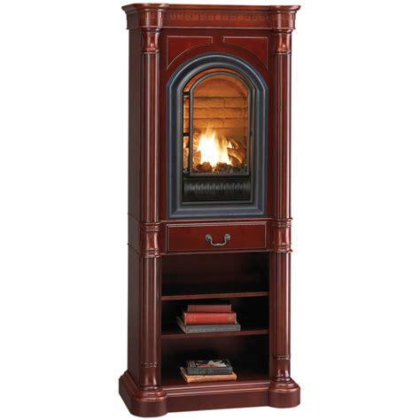 Hearthsense Natural Gas Ventless Gas Tower Fireplace