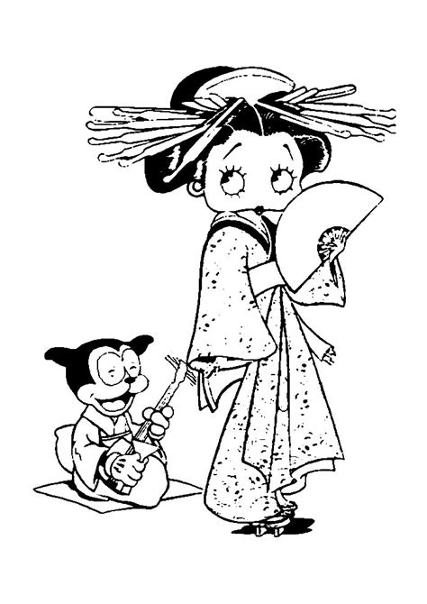 Betty Boop Kleurplaat by Betty Boop Als Chinees Vrouwtje Betty Boop Kleurplaten
