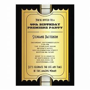 movie premiere celebrity 40th birthday photo gala With film premiere invitation template