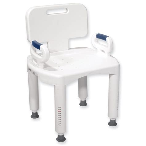 maxiaids bath bench with back and arms - Shower Chair With Arms And Back