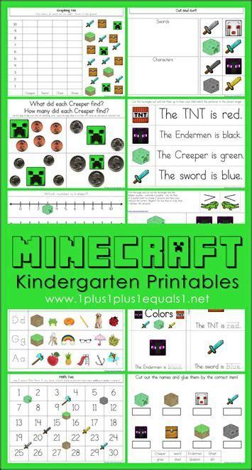 Minecraft Kindergarten Printables  Math Skills, Kindergarten And Literacy