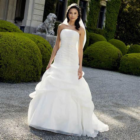 robe de mariage robe de mari 233 e en organza 224 bustier droit cathy