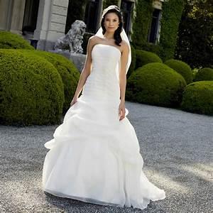 robe de mariee en organza a bustier droit cathy With robe de mariée alsace