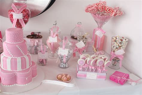 Sugarcoated Pink And White Candy Buffet Pink Pink Pink