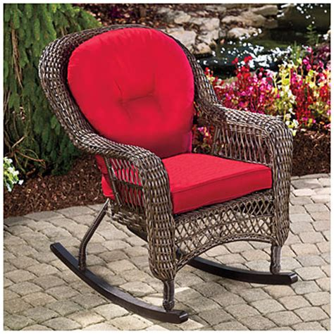 Big Lots Rocking Chair Cushions by View Wilson Fisher 174 Charleston Resin Wicker Cushioned