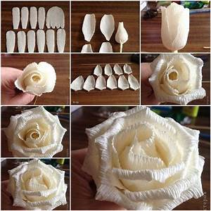 How to DIY Easy Rose from Crepe Paper Party at, Popular