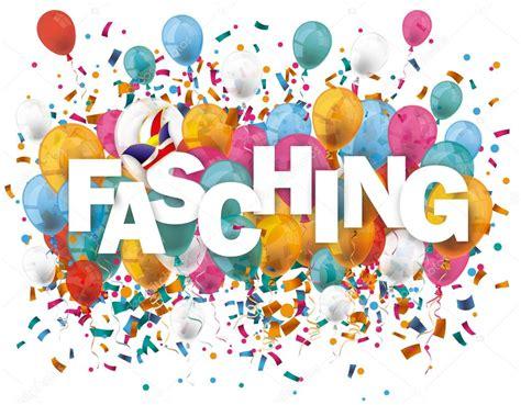 luftballons konfetti fasching stockvektor  limbi