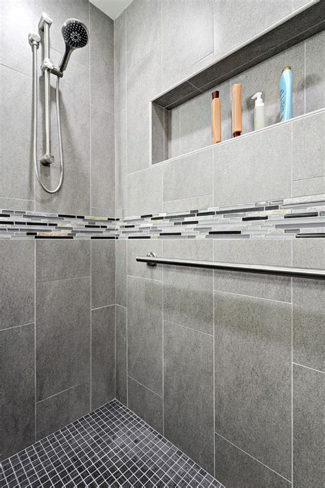 porcelain shower tile bathroom contemporary with