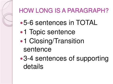 how is a the parts of a paragraph