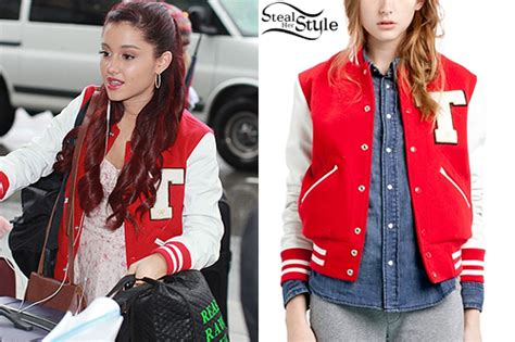 Ariana Grande: Letterman Jacket | Steal Her Style