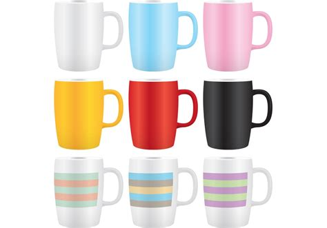 Hm7 Mug 02 colorful coffee mug vectors 02 free vector