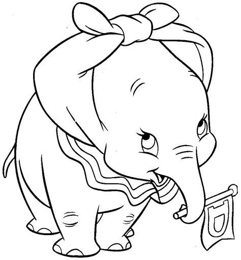 coloriage dumbo lelephant  imprimer