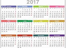 Year 2017 Annual Calendar stock vector art 618837950 iStock