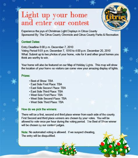 citrus county chronicle christmas light contest 2010