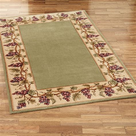 grape area rugs grapes napa border area rugs 1307