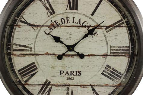 grande horloge ancienne murale cafe de la gare 70cm