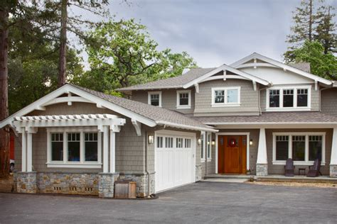 craftsman style new home craftsman exterior san