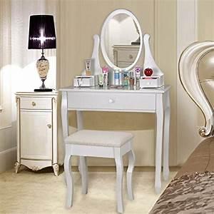 Coiffeuse Meuble Blanc : coiffeuse meuble bureau ~ Teatrodelosmanantiales.com Idées de Décoration