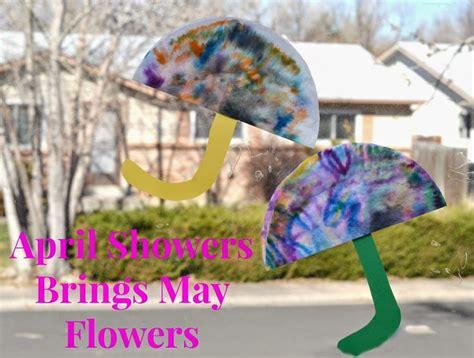 april showers brings may flowers coffee filter craft sun 805 | b336ed925e9b3801d7391e3cf3e3d405
