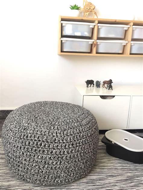 pouf geant tricot  marocain elements deco salon ou