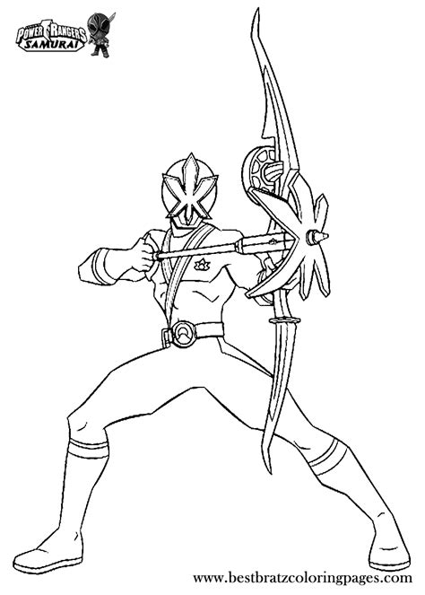 printable power rangers samurai coloring pages  kids
