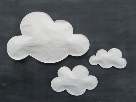paper clouds lesson plan kinderart