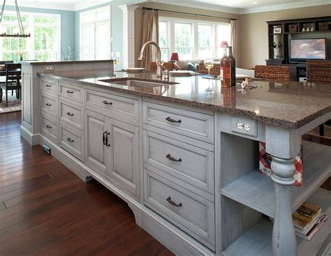 sink in island kitchen mullet cabinet family of 7 kitchen