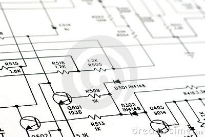 Schematic Diagram Royalty Free Stock Image