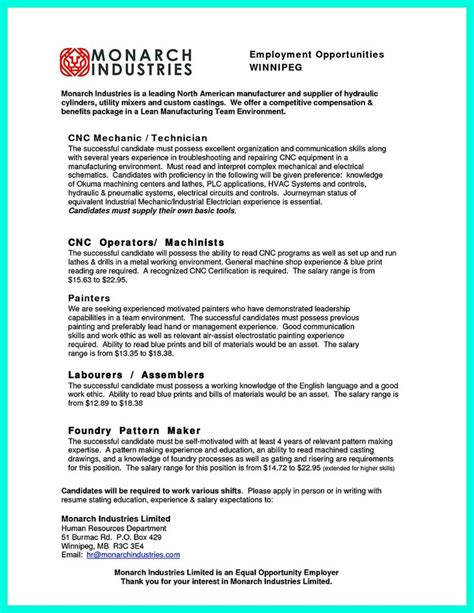 Machinist Resume Summary by 17 Best Ideas About Cnc Machinist On Cnc Programming Cnc And Cnc Router