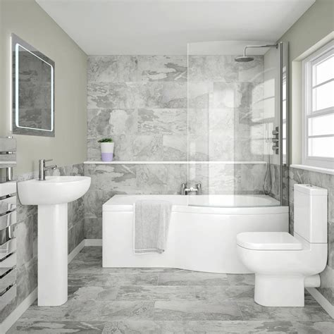 cruze modern shower bath suite    victorian