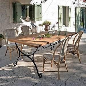 Table De Jardin Fer Forgé : table de jardin fer forge maison design ~ Louise-bijoux.com Idées de Décoration
