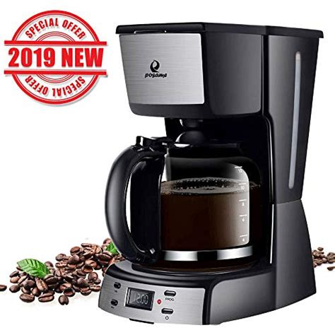 You just fill up the water reservoir, power up the machine, put a filter and activate the only switch on the body. Posame Electric Coffee Makers-12 Cup Programmable Smart Drip Coffee Maker Brew Machine with 1 ...