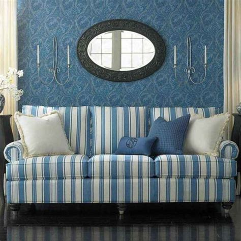 blue and white striped sofa home furniture design