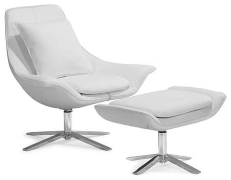 Modern White Swivel Lounge Chair Vital
