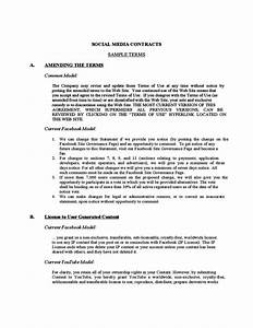 social media contract example free download With zero hour contract template free