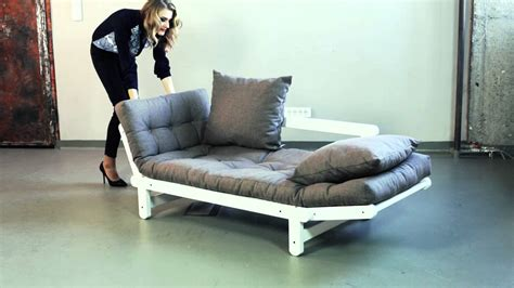 futon canapé lit canapé convertible en bois avec matelas futon beat